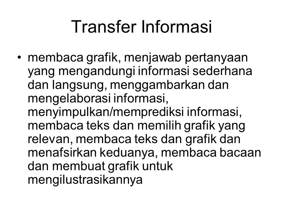 Transfer Informasi
