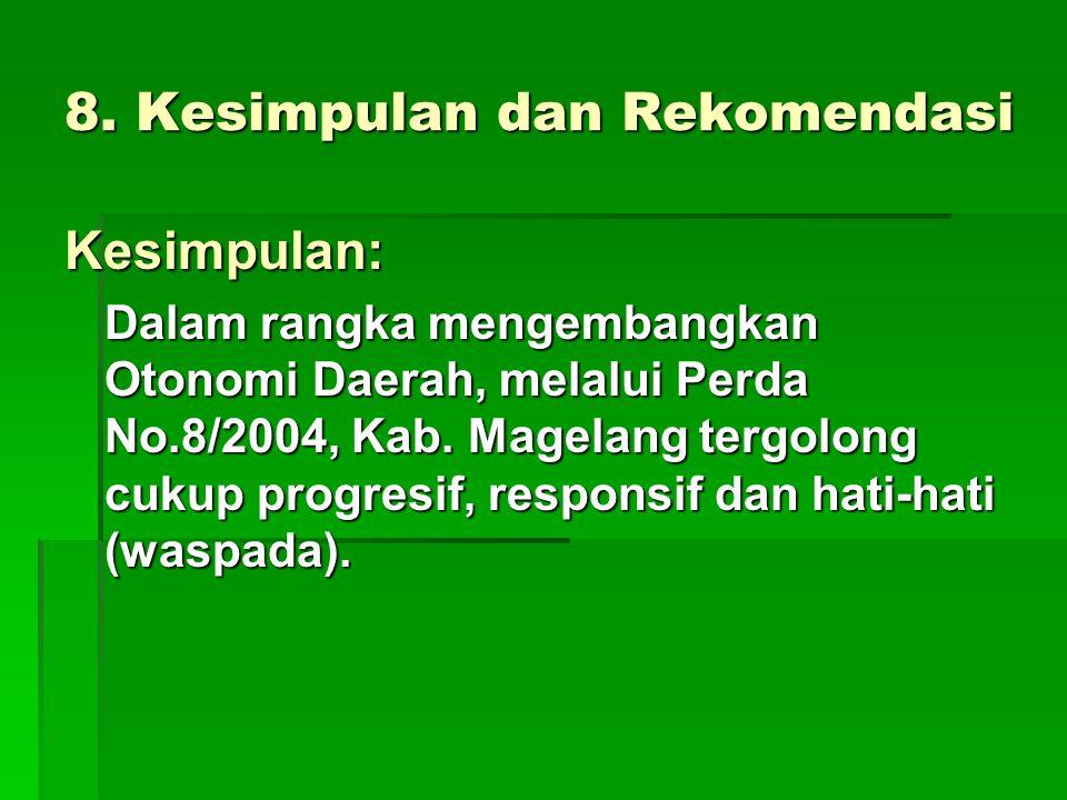 8. Kesimpulan dan Rekomendasi