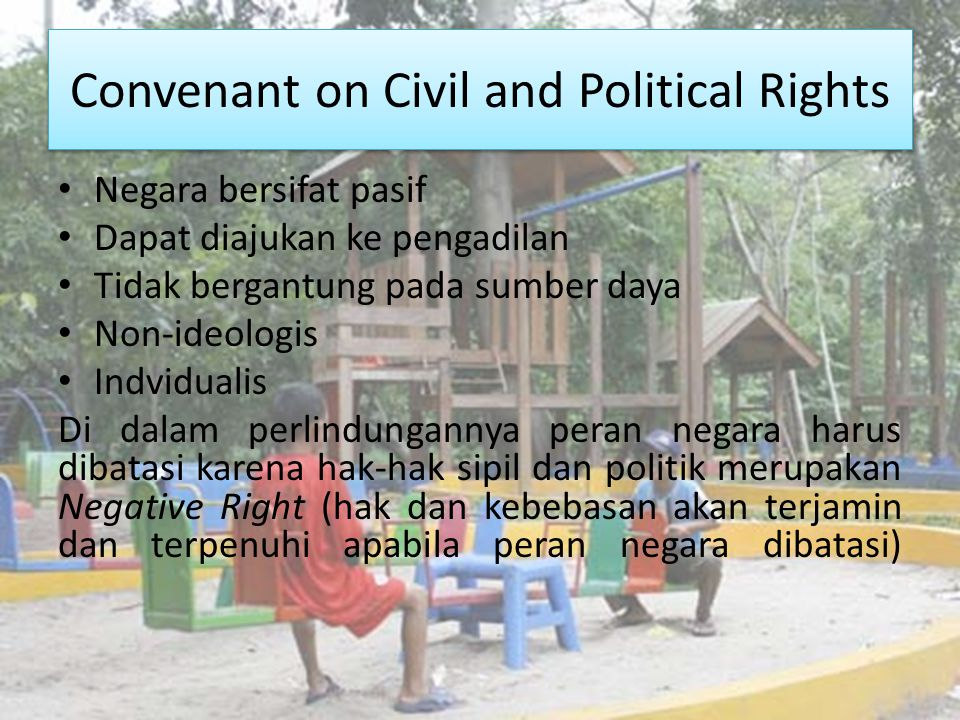Convenant on Civil and Political Rights