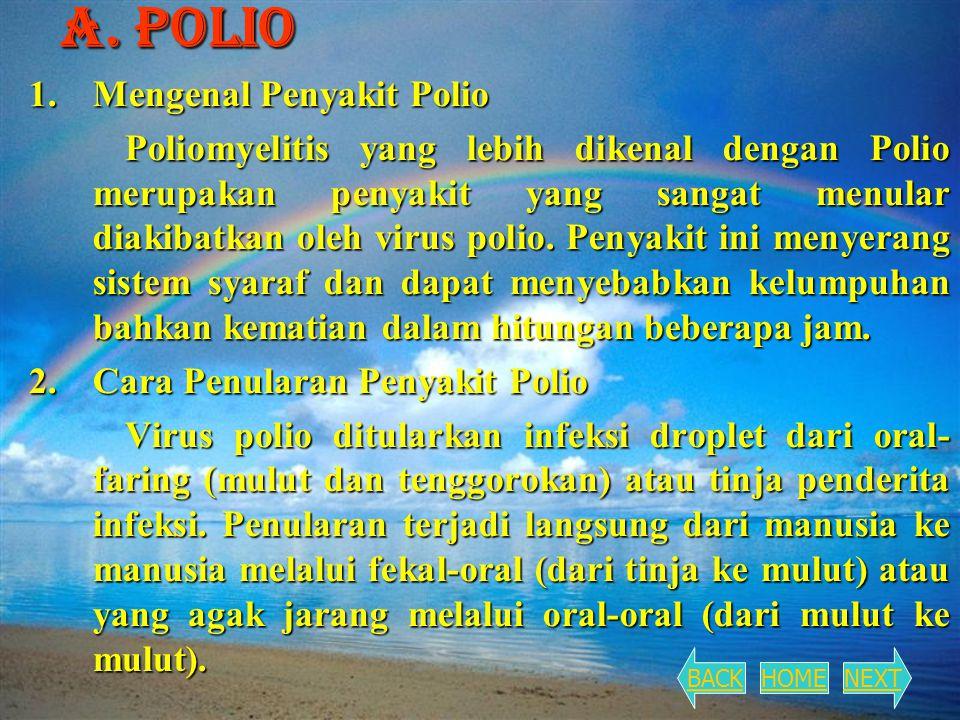 A. Polio 1. Mengenal Penyakit Polio