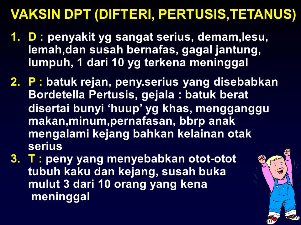 VAKSIN DPT (DIFTERI, PERTUSIS,TETANUS)