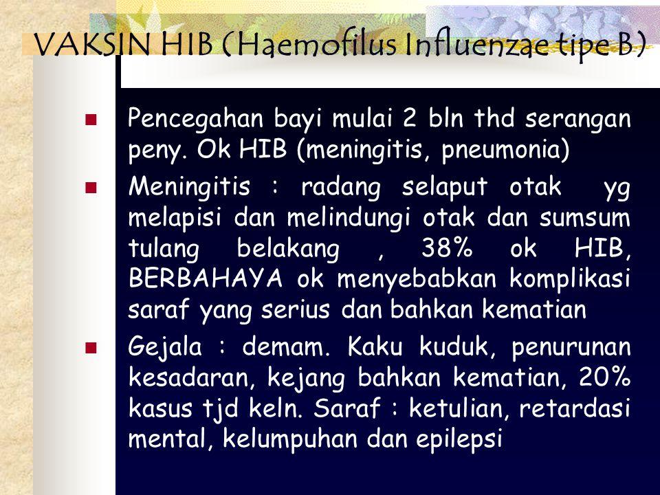 VAKSIN HIB (Haemofilus Influenzae tipe B)