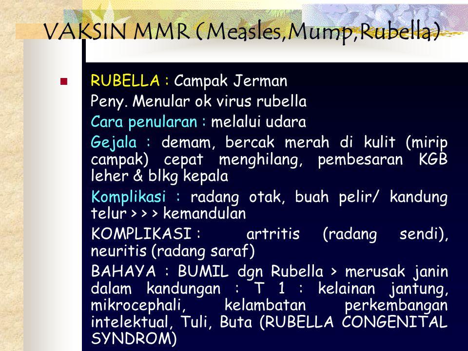 VAKSIN MMR (Measles,Mump,Rubella)