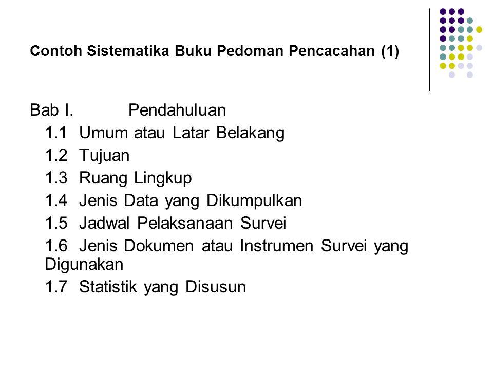 Contoh Sistematika Buku Pedoman Pencacahan (1)