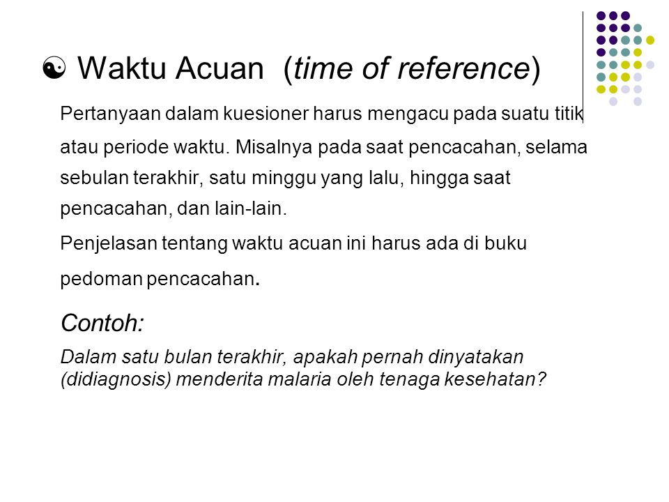  Waktu Acuan (time of reference)