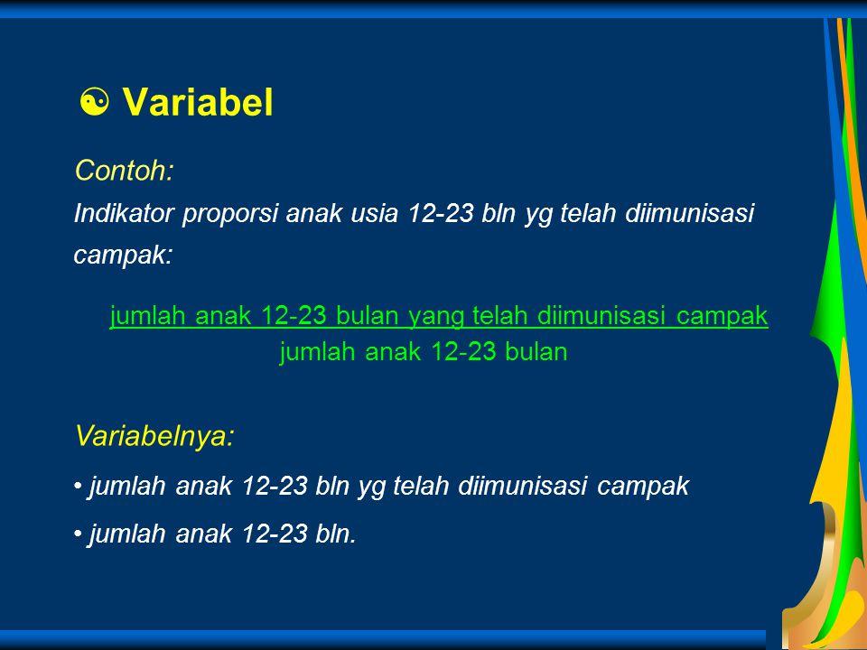 Variabel Contoh: Variabelnya: