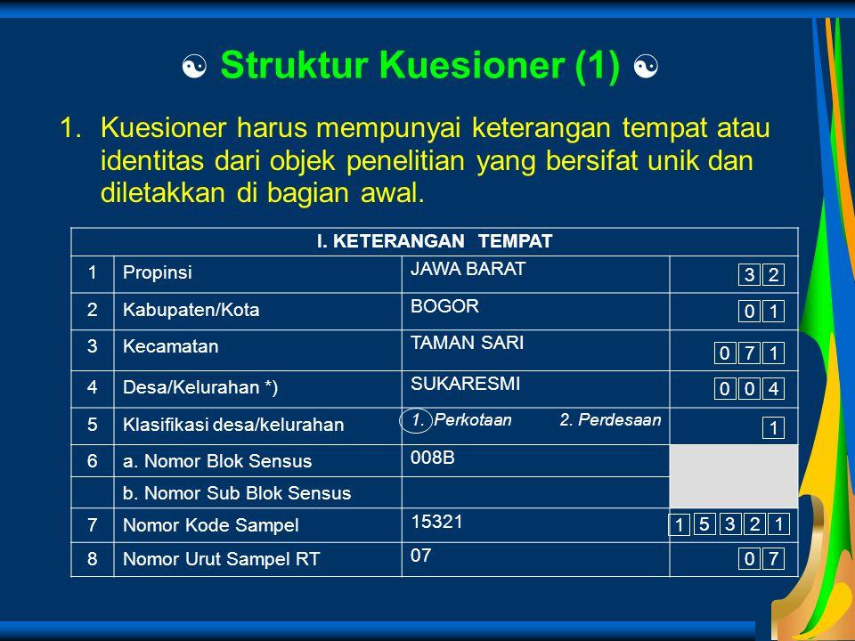  Struktur Kuesioner (1) 