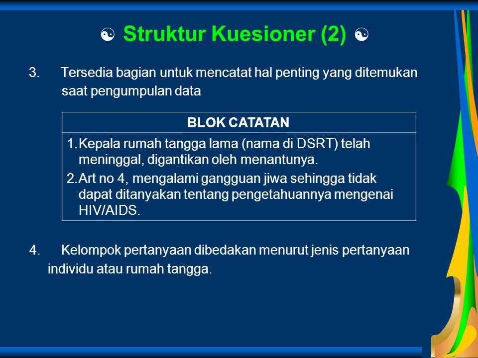  Struktur Kuesioner (2) 