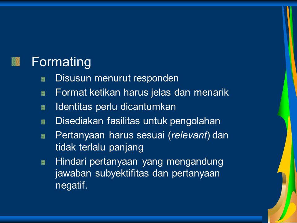Formating Disusun menurut responden