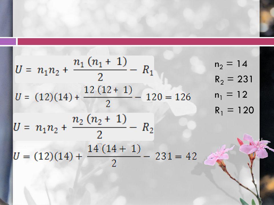 n2 = 14 R2 = 231 n1 = 12 R1 = 120