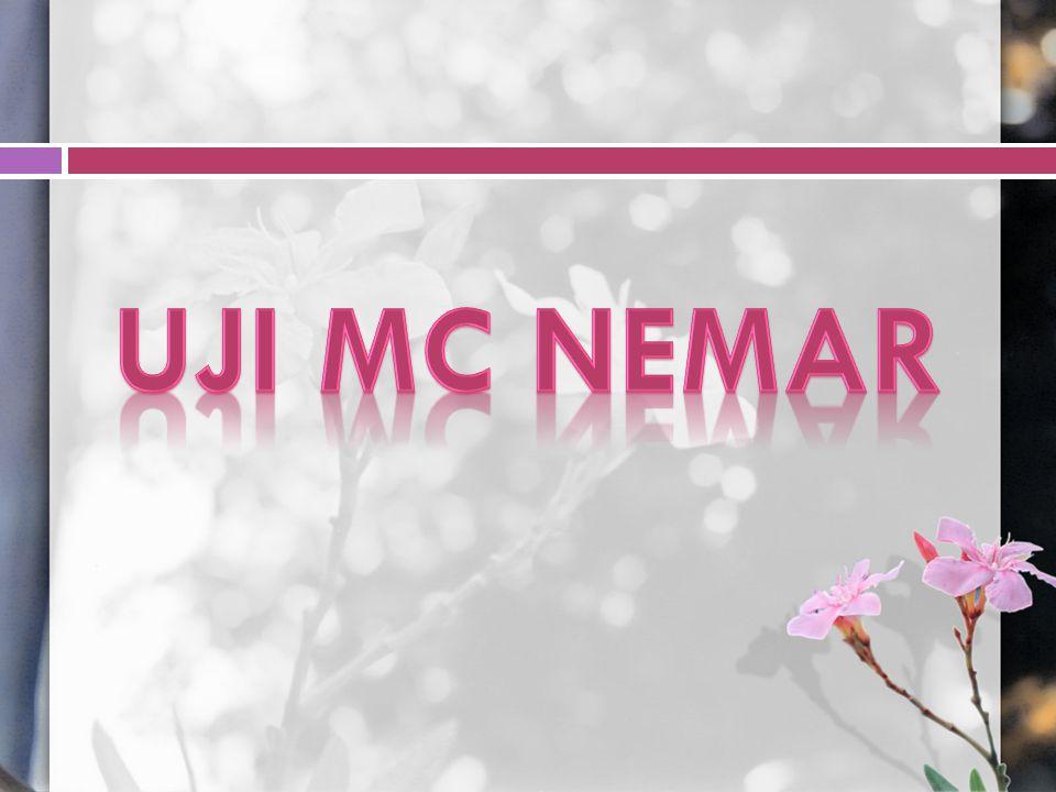 Uji Mc Nemar