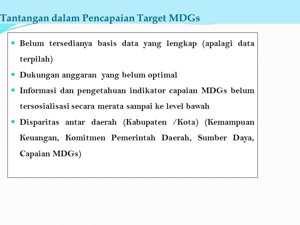 Tantangan dalam Pencapaian Target MDGs
