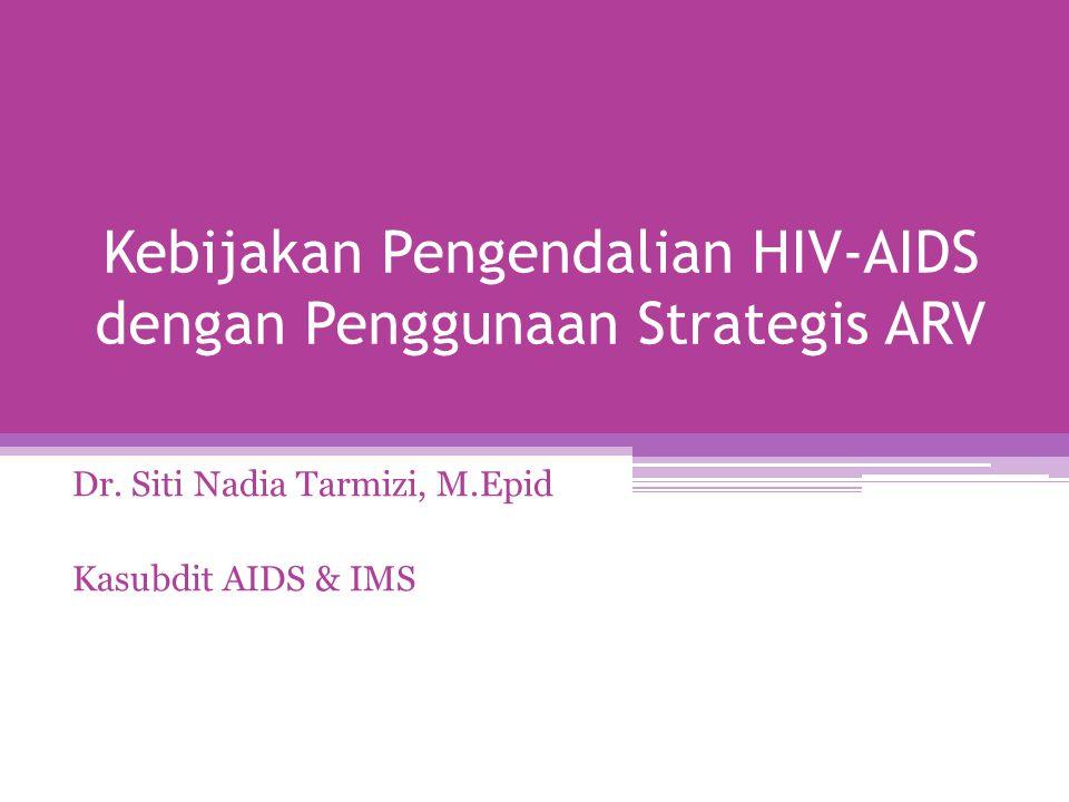 Kebijakan Pengendalian HIV-AIDS dengan Penggunaan Strategis ARV