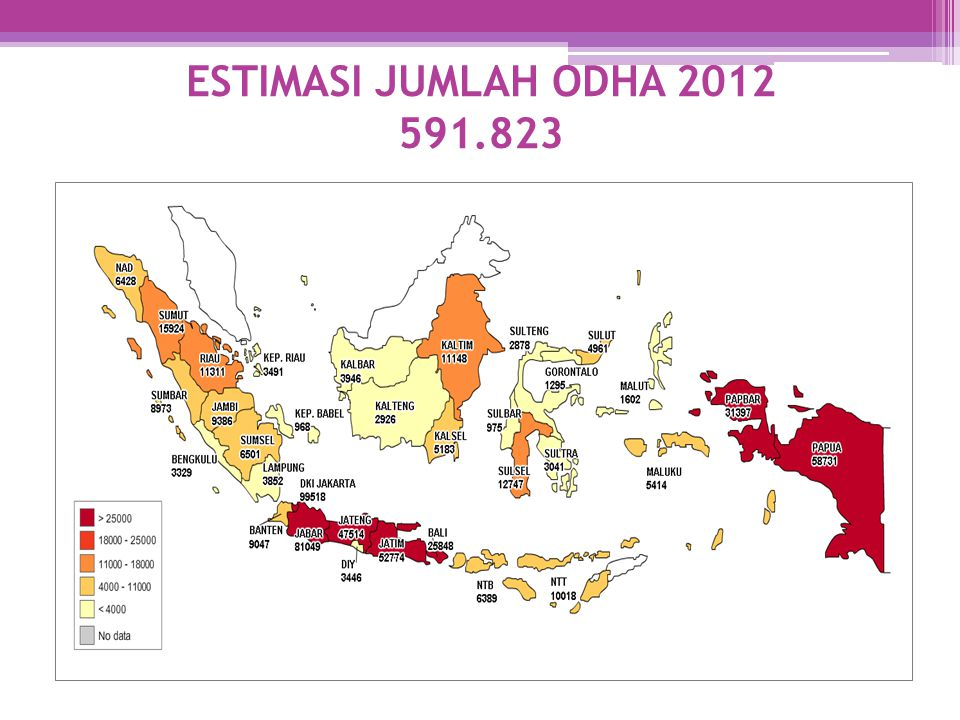 ESTIMASI JUMLAH ODHA 2012 591.823 591.823