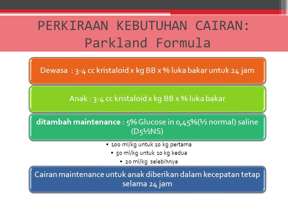 PERKIRAAN KEBUTUHAN CAIRAN: Parkland Formula