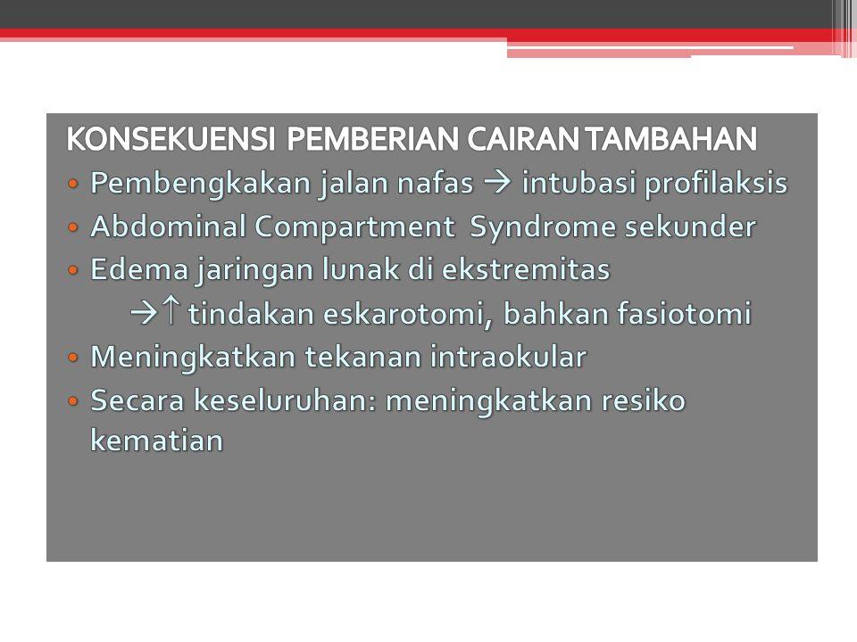 KONSEKUENSI PEMBERIAN CAIRAN TAMBAHAN