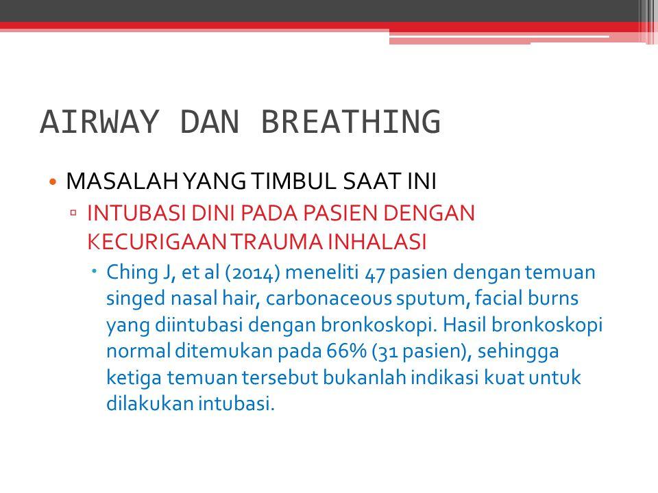 AIRWAY DAN BREATHING MASALAH YANG TIMBUL SAAT INI