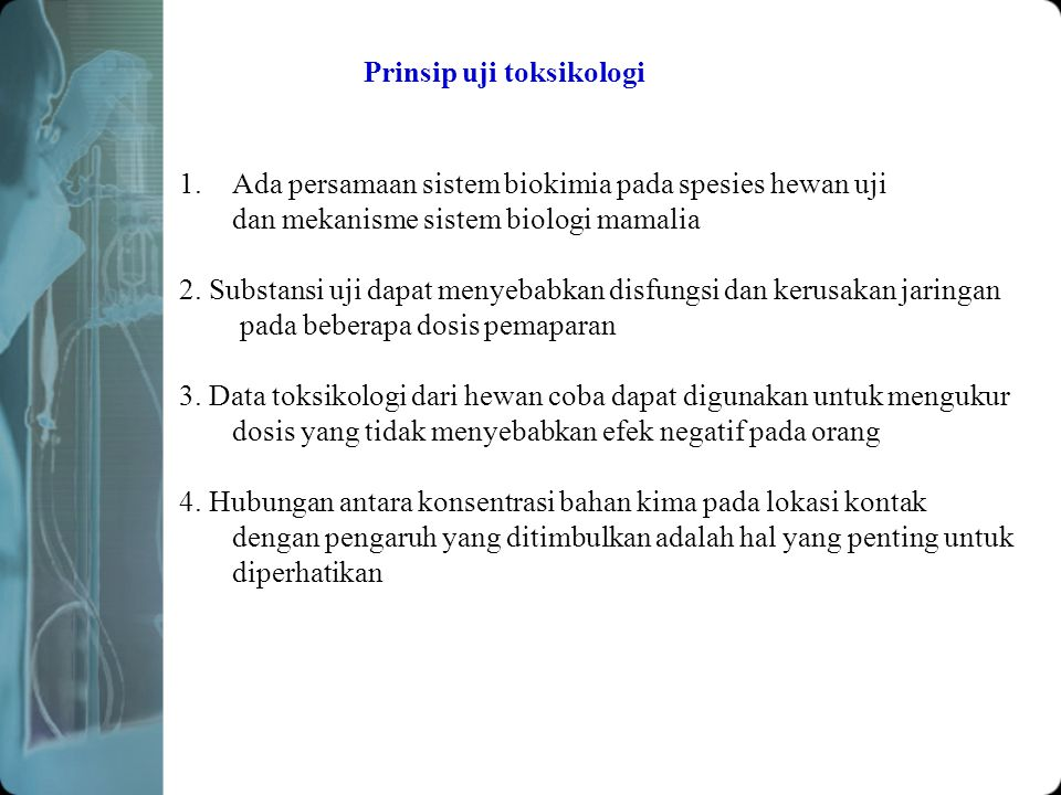 Prinsip uji toksikologi