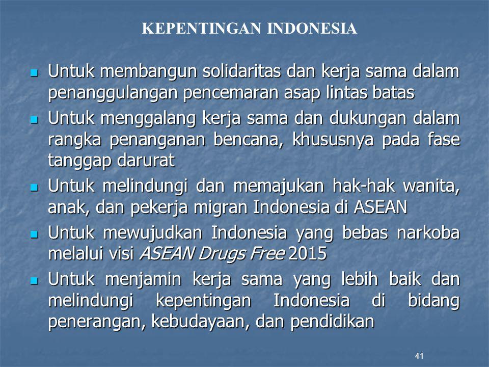 KEPENTINGAN INDONESIA