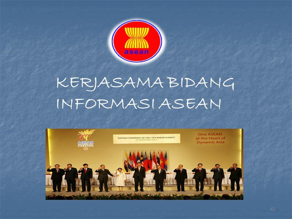 KERJASAMA BIDANG INFORMASI ASEAN