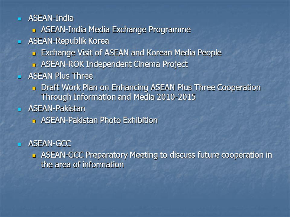 ASEAN-India ASEAN-India Media Exchange Programme. ASEAN-Republik Korea. Exchange Visit of ASEAN and Korean Media People.