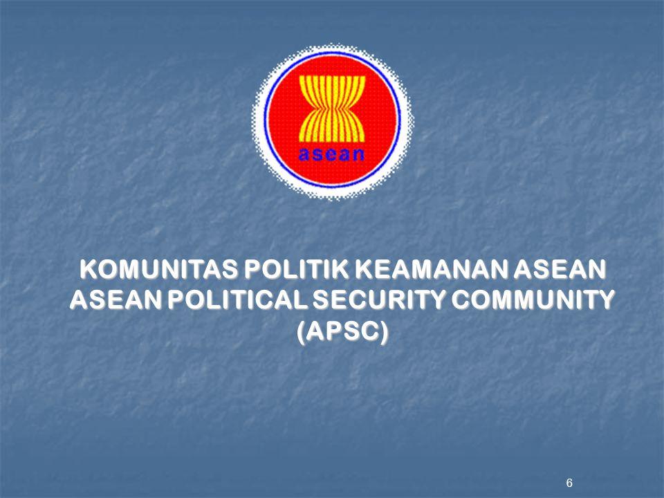 KOMUNITAS POLITIK KEAMANAN ASEAN