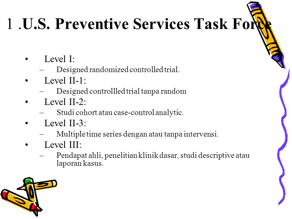 1 .U.S. Preventive Services Task Force