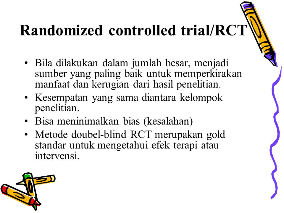 Randomized controlled trial/RCT