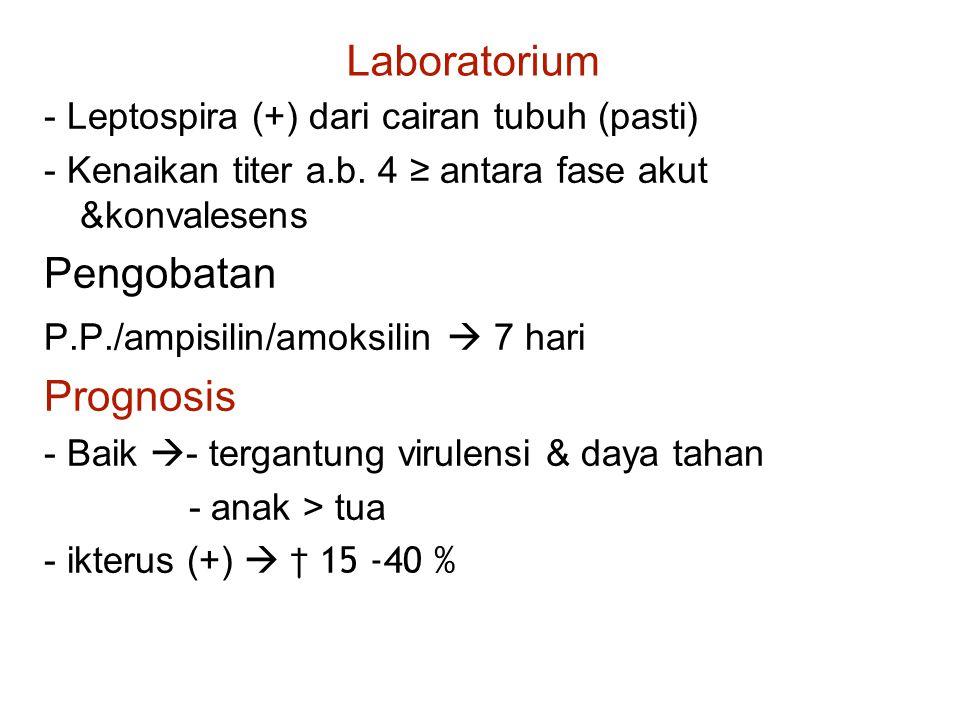 Laboratorium Pengobatan Prognosis