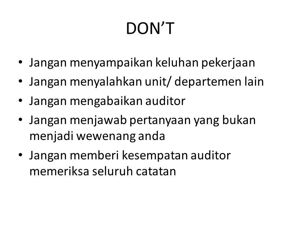 DON'T Jangan menyampaikan keluhan pekerjaan