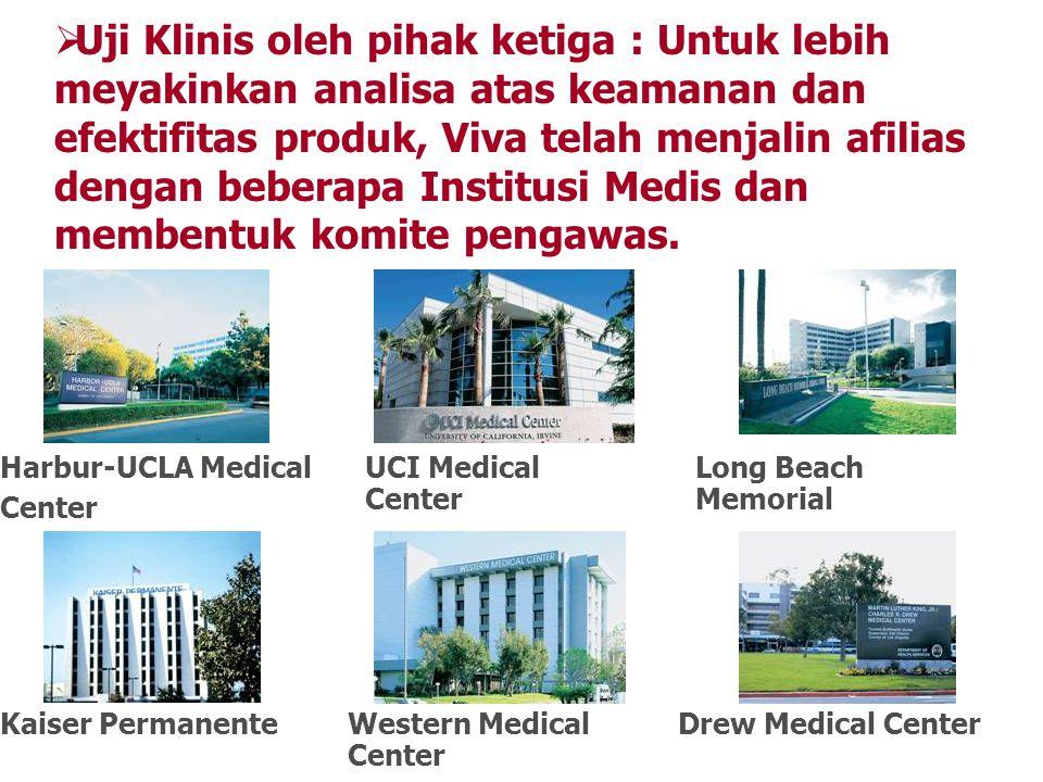 Uji Klinis oleh pihak ketiga : Untuk lebih meyakinkan analisa atas keamanan dan efektifitas produk, Viva telah menjalin afilias dengan beberapa Institusi Medis dan membentuk komite pengawas.