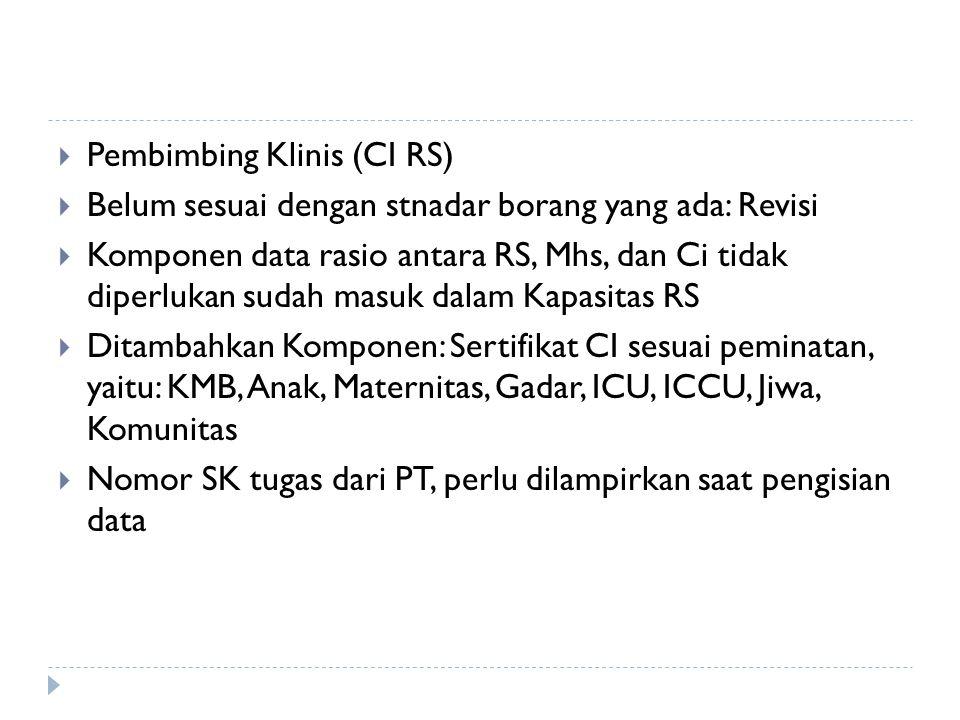 Pembimbing Klinis (CI RS)