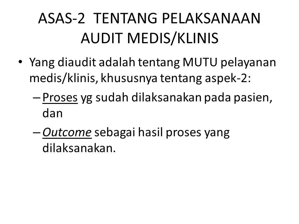 ASAS-2 TENTANG PELAKSANAAN AUDIT MEDIS/KLINIS