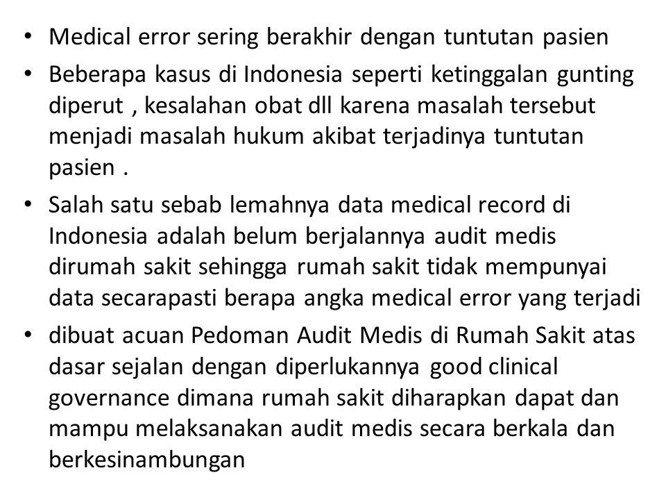 Medical error sering berakhir dengan tuntutan pasien
