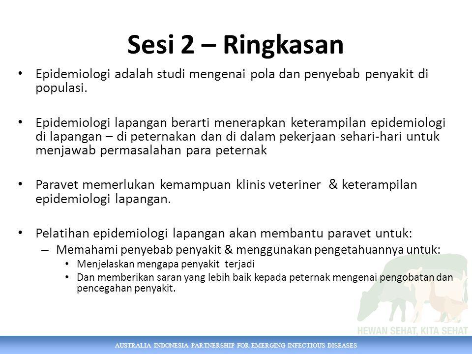 Sesi 2 – Ringkasan Epidemiologi adalah studi mengenai pola dan penyebab penyakit di populasi.