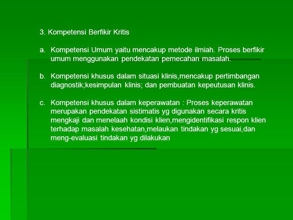 3. Kompetensi Berfikir Kritis