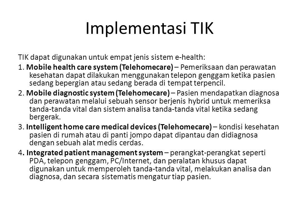 Implementasi TIK