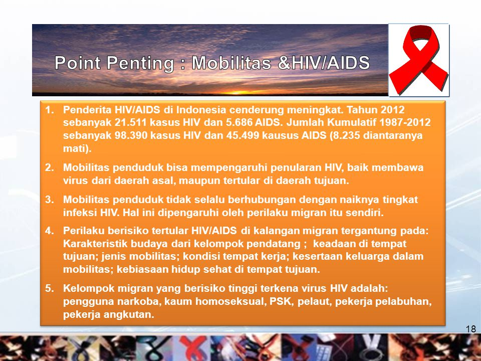 Point Penting : Mobilitas &HIV/AIDS