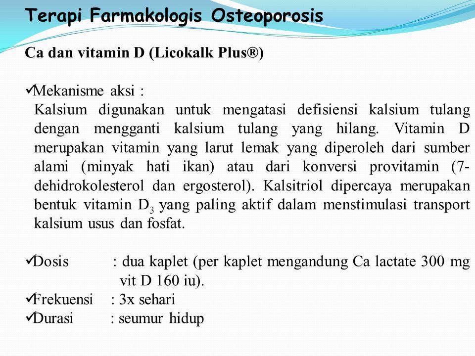 Terapi Farmakologis Osteoporosis