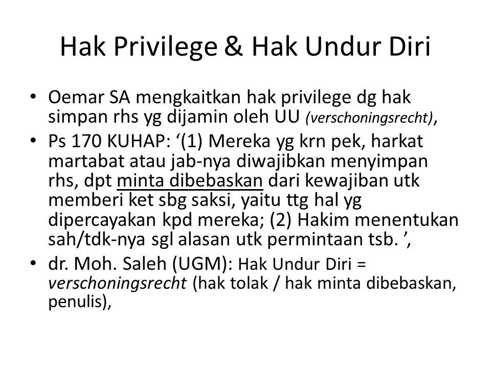 Hak Privilege & Hak Undur Diri