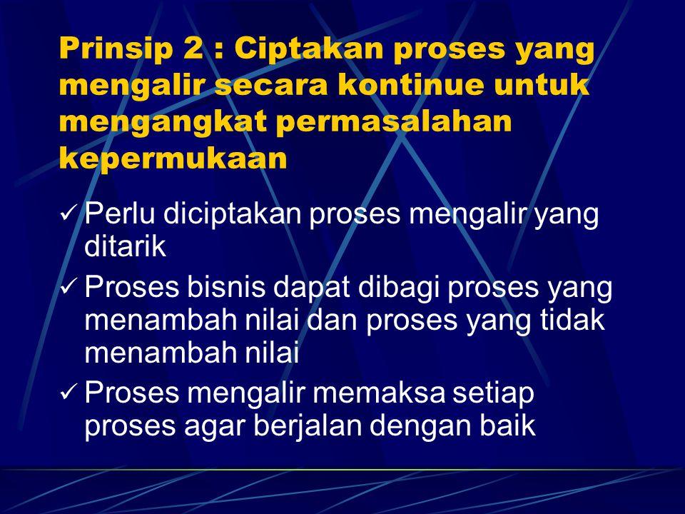 Prinsip 2 : Ciptakan proses yang mengalir secara kontinue untuk mengangkat permasalahan kepermukaan