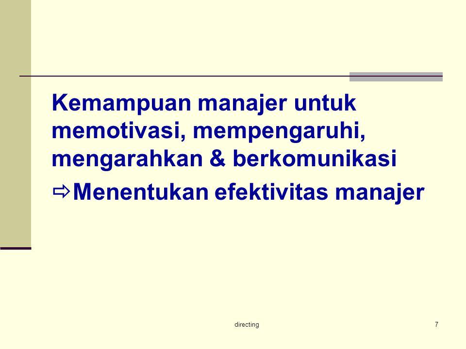 Menentukan efektivitas manajer