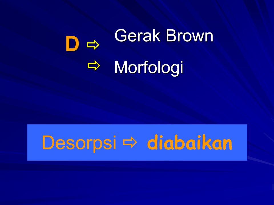 Gerak Brown D   Morfologi Desorpsi  diabaikan