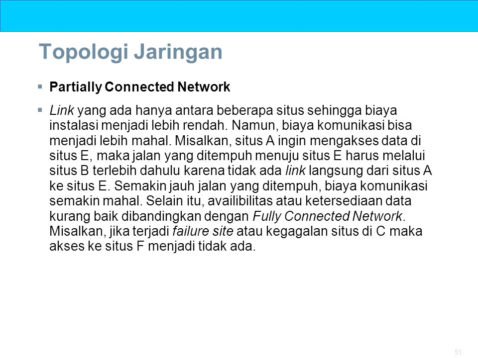 Topologi Jaringan Partially Connected Network