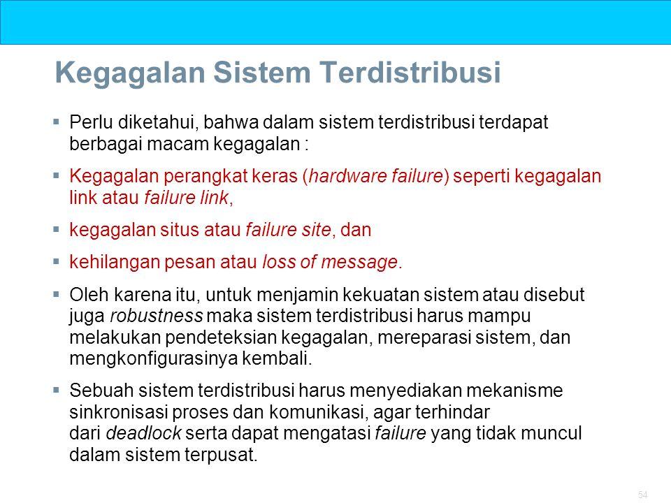 Kegagalan Sistem Terdistribusi