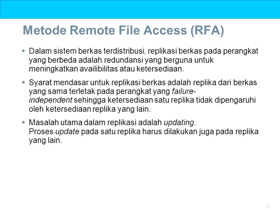 Metode Remote File Access (RFA)