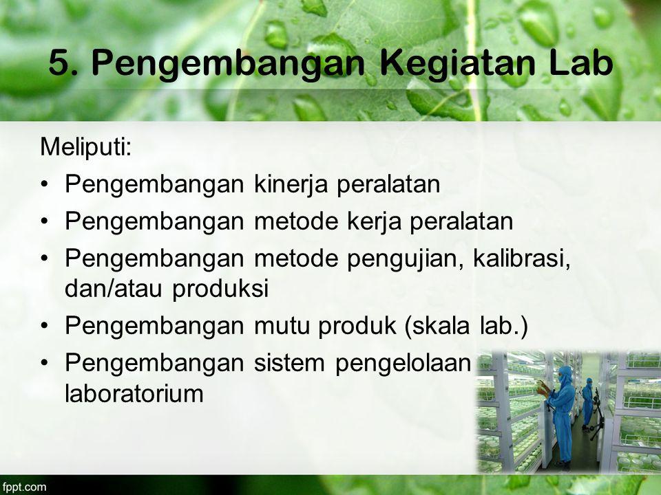 5. Pengembangan Kegiatan Lab