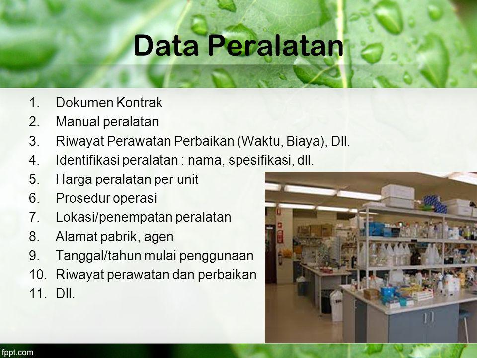 Data Peralatan Dokumen Kontrak Manual peralatan