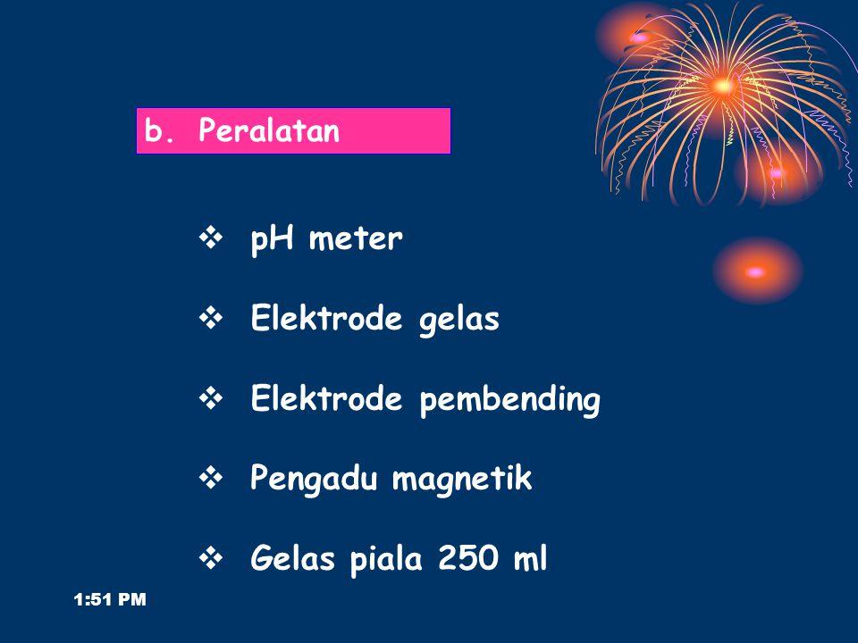 pH meter Elektrode gelas Elektrode pembending Pengadu magnetik