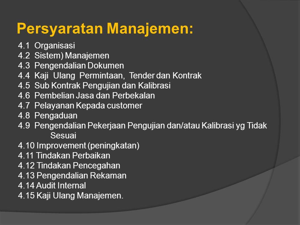 Persyaratan Manajemen: